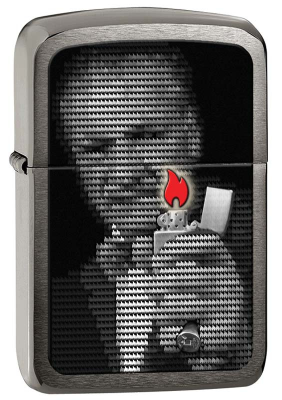 Зажигалка ZIPPO 1941 Replica™, латунь с покрытием Black Ice®, чёрная, глянцевая, 36х12x56 мм зажигалка zippo slim black ice 3 1 5 5 см