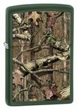 Зажигалка ZIPPO Старый лес, латунь с покрытием Green Matte, зеленая, матовая, 36х12x56 мм - купить в интернет магазине