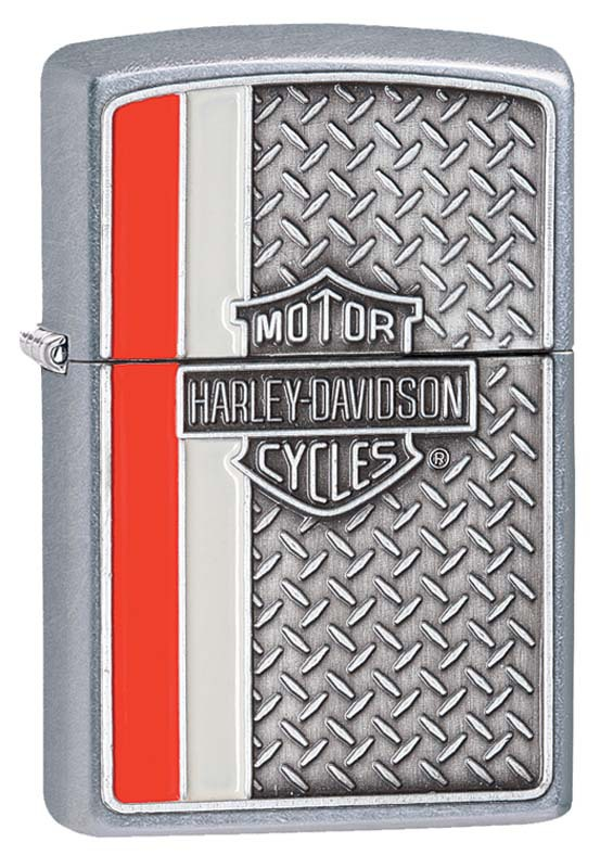 Зажигалка ZIPPO Harley-Davidson®, латунь/сталь с покрытием Street Chrome™, серебристая, 36x12x56 мм motorcycle front rear brake pads disks for harley davidson road king street road glide electra glide flhr flhx fltr 2008 2017 14