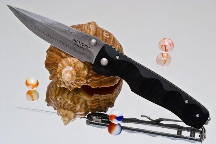 Фото 6 - Складной нож Mcusta Tactility MC-121D, сталь VG-10 в обкладах из дамаска, рукоять микарта