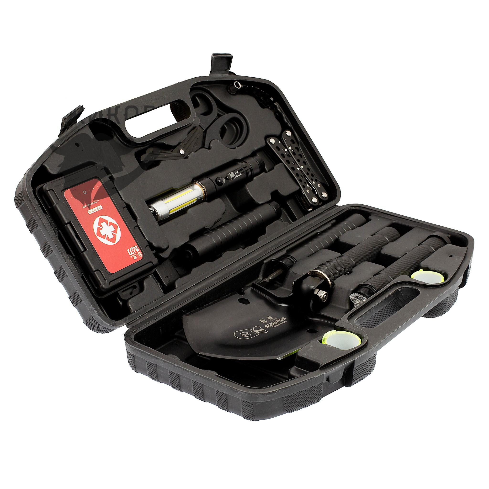 Фото - Автомобильный набор для выживания Emergency 15-в-1 с ножом многофункциональная лопата для выживания 10 в 1