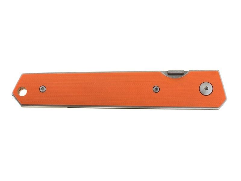 Фото 10 - Нож складной Kwaiken Folder Orange (IKBS®), Boker Plus 01BO292, сталь AUS-8 Stonewashed Plain, рукоять стеклотекстолит G10, оранжевый