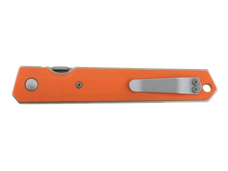 Фото 11 - Нож складной Kwaiken Folder Orange (IKBS®), Boker Plus 01BO292, сталь AUS-8 Stonewashed Plain, рукоять стеклотекстолит G10, оранжевый