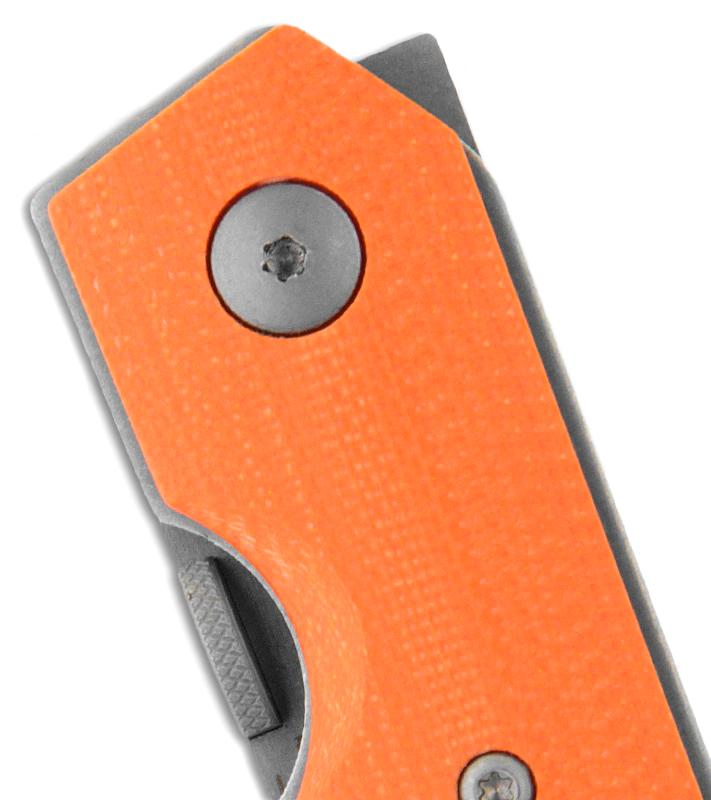 Фото 13 - Нож складной Kwaiken Folder Orange (IKBS®), Boker Plus 01BO292, сталь AUS-8 Stonewashed Plain, рукоять стеклотекстолит G10, оранжевый