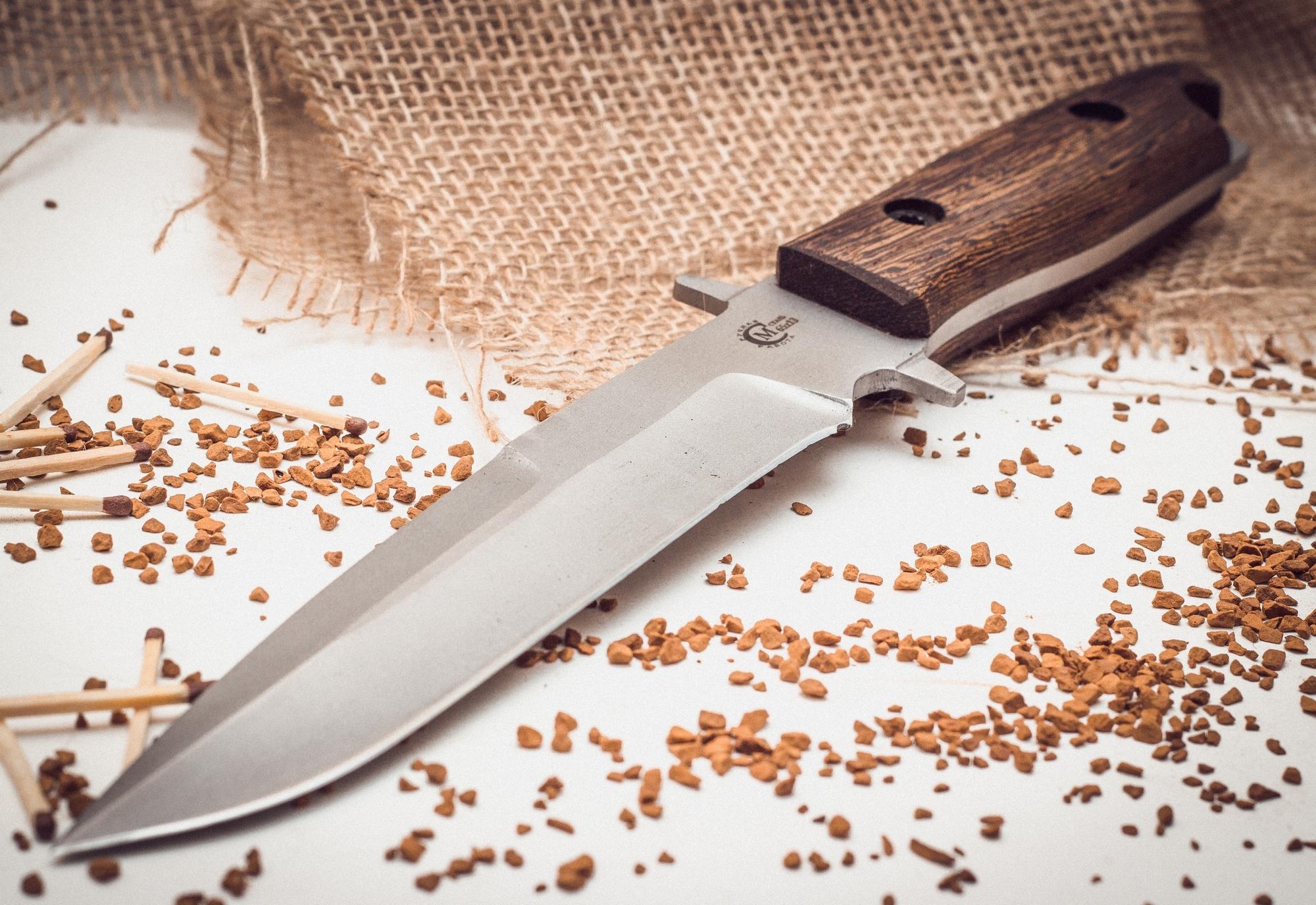 Фото 6 - Нож Командор с отверстием для темляка от Кузница Семина