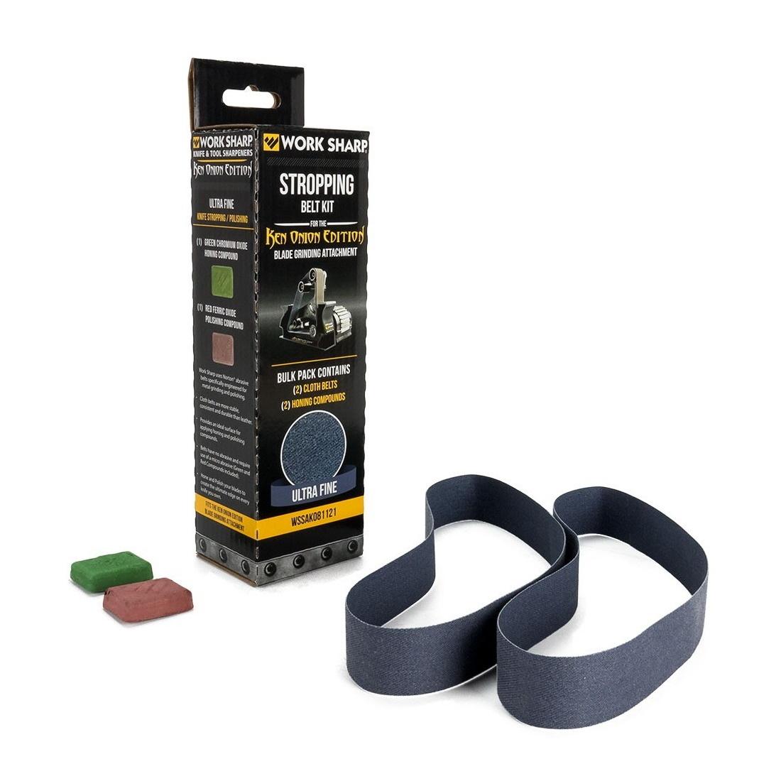 Набор сменных ремней Work Sharp с 2 видами полировочной пасты для электроточилки Ken Onion от Worksharp