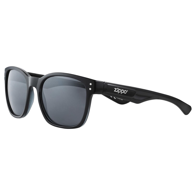 Очки солнцезащитные ZIPPO OB68-08, унисекс, чёрные, оправа, линзы и дужки из поликарбоната
