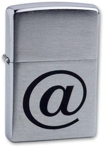 Зажигалка ZIPPO Internet Brushed Chrome, латунь с ник.хром. покрыт., серебр., матов., 36х56х12 мм зажигалка zippo macho brushed chrome латунь с никеле хром покрыт серебр матов 36х56х12 мм