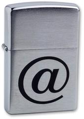 Зажигалка ZIPPO Internet Brushed Chrome, латунь с ник.хром. покрыт.,серебр.,матов., 36х56х12 мм