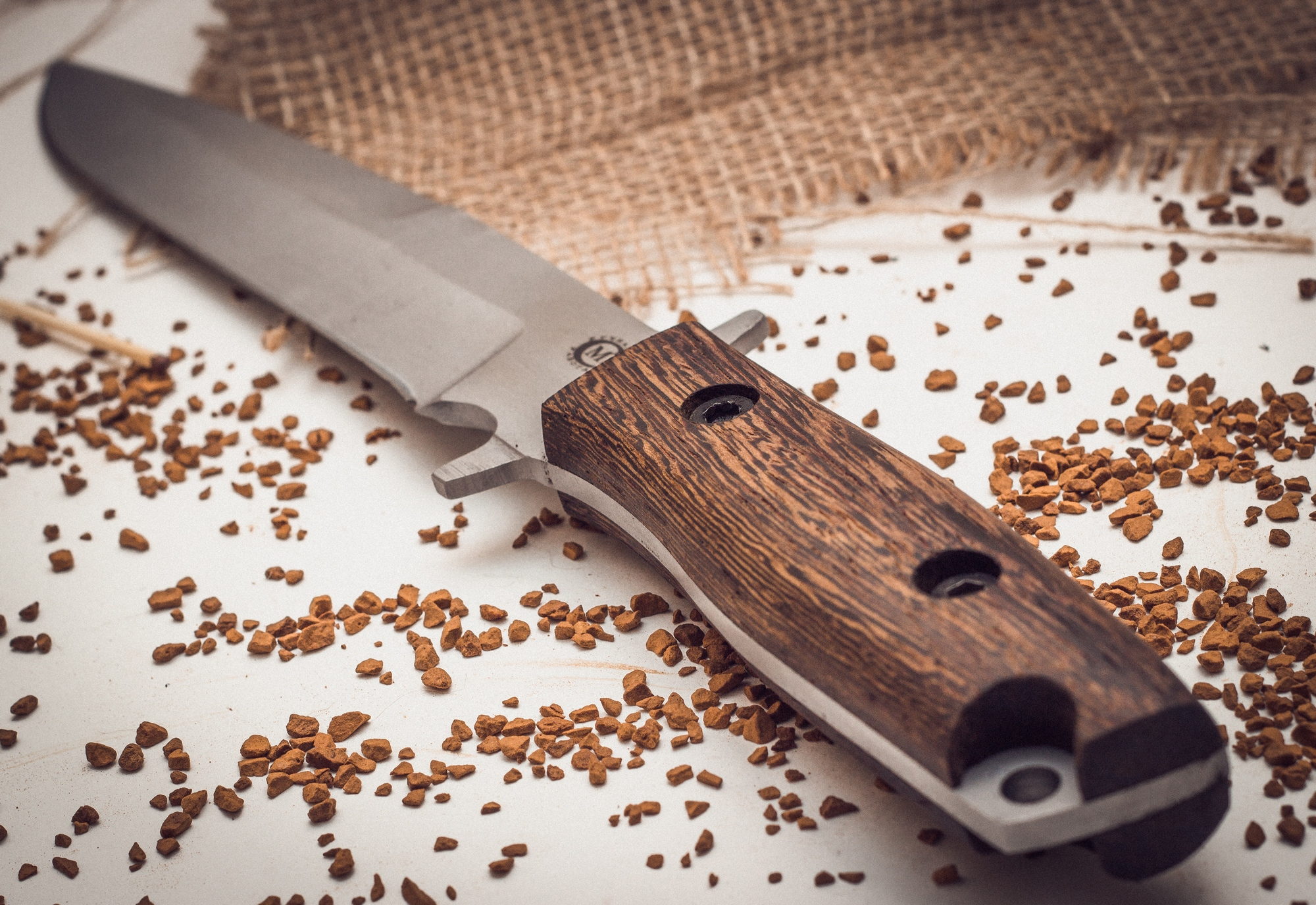 Фото 7 - Нож Командор с отверстием для темляка от Кузница Семина