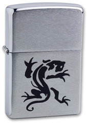 Зажигалка ZIPPO Panther Brushed Chrome,латунь,ник-хром.покр.,сереб.,матов.,36х56х12мм