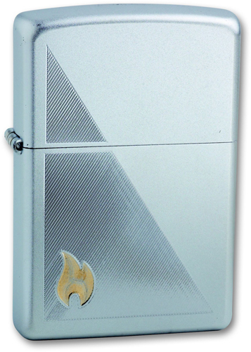 купить Зажигалка ZIPPO Zippo Flame Satin Chrome, латунь с ник.-хром. покрыт., серебр., матовая, 36х56х12 мм дешево