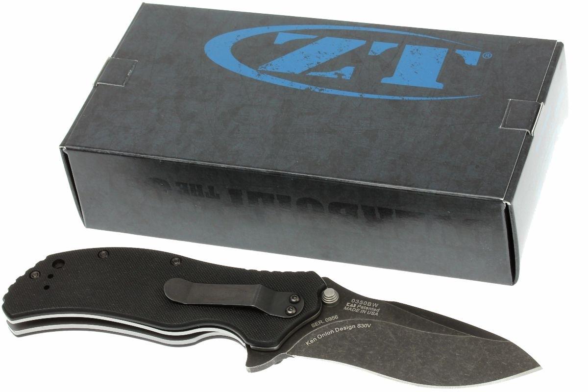 Фото 14 - Нож полуавтоматический Zero Tolerance 0350BW, сталь CPM S30V, рукоять G-10