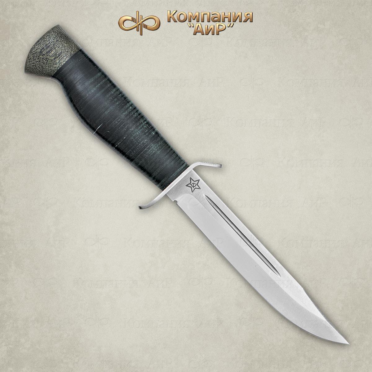 Фото - Нож разделочный АиР Штрафбат, сталь 110х18 М-ШД, рукоять кожа нож аир хазар сталь 110х18 м шд рукоять кожа