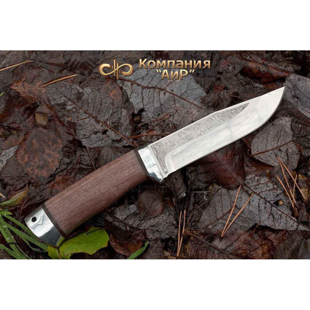 Нож АиР Турист, сталь ЭП-766, рукоять дерево нож аир хазар сталь эп 766 рукоять дерево