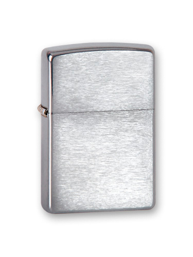 Зажигалка ZIPPO Classic с покрытием Brushed Chrome, латунь/сталь, серебро, матовая, 36x12x56 мм зажигалка zippo classic с покрытием brushed chrome латунь и сталь серебристая матовая 36x12x56 мм