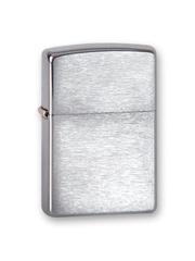 Зажигалка ZIPPO Classic с покрытием Brushed Chrome, латунь/сталь, серебро, матовая, 36x12x56 мм