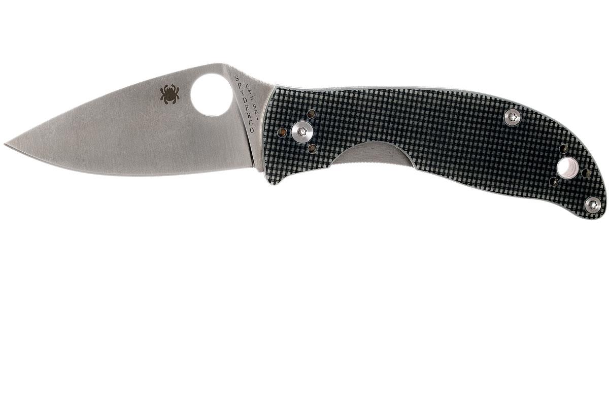 Фото 9 - Нож складной Alcione Spyderco 222GPGY, сталь Carpenter CTS™ - BD1 Alloy Satin Plain, рукоять стеклотекстолит G10, серый