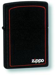 Зажигалка ZIPPO Classic с покрытием Black Matte, латунь/сталь, чёрная с лого, матовая, 36x12x56 мм