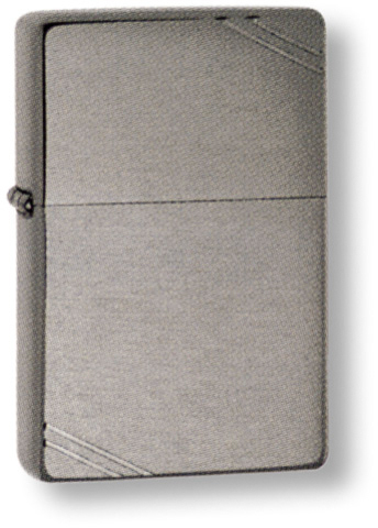 Зажигалка ZIPPO Brushed Chrome, латунь с ник.-хром.покрыт., серебр., матов., 36х56х12 мм. Вид 1