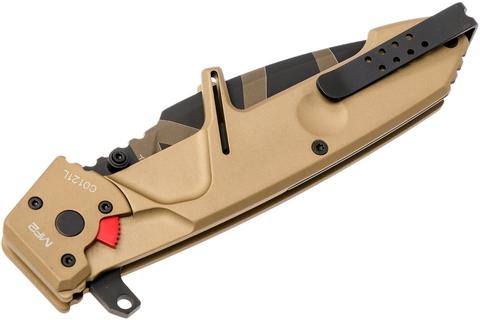 Складной нож Extrema Ratio MF2 Desert Warfare, сталь Böhler N690, рукоять алюминий. Вид 7
