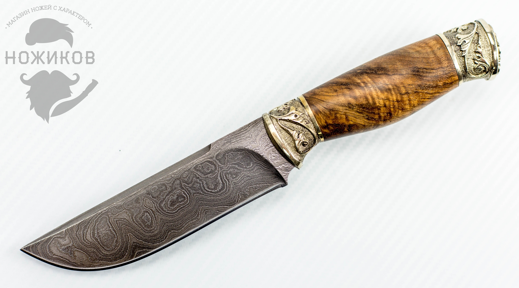 Авторский Нож из Дамаска №75, Кизляр авторский нож из дамаска 4 кизляр