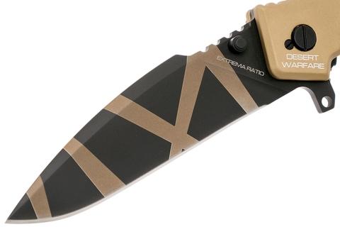Складной нож Extrema Ratio MF2 Desert Warfare, сталь Böhler N690, рукоять алюминий. Вид 8