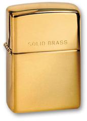 Зажигалка ZIPPO High Polish Brass, латунь, золотистый, глянцевая, 36х56х12 мм