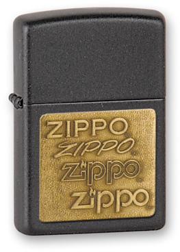 Зажигалка ZIPPO Black Crackle, латунь с порошковым покрытием, черный, матовая, 36х56х12 мм