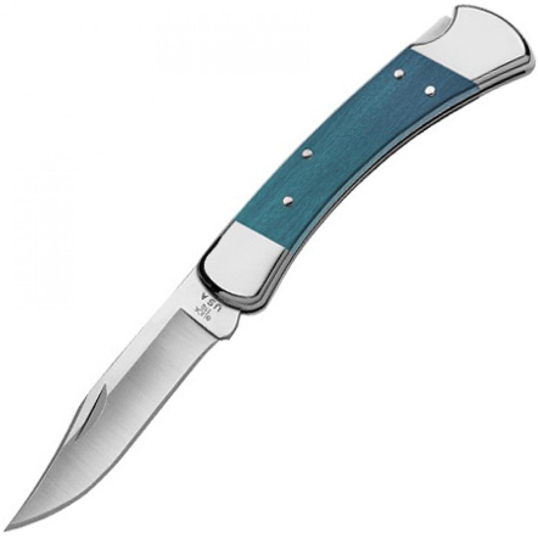 Фото 9 - Складной нож Buck Folding Hunter Indigo 0110IRS, сталь S30V, рукоять древесный пластик