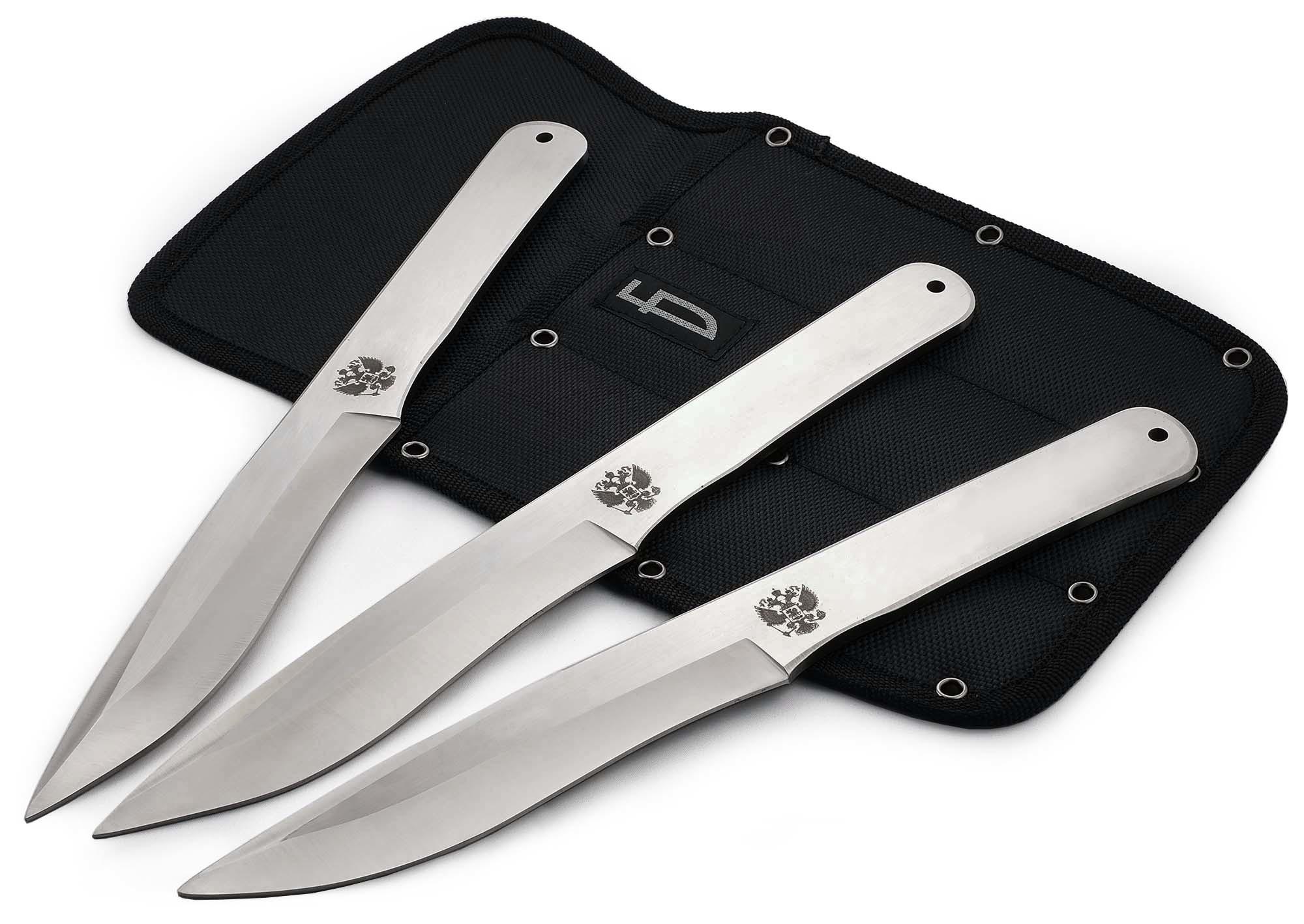 Набор из 3 метательных ножей Герб , M-120G цена в Москве и Питере