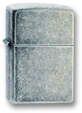 Зажигалка ZIPPO Antique Silver Plate, латунь с покрытием ™Plate, серебристый, матовая, 36х12x56 мм - купить в интернет магазине