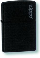 Зажигалка ZIPPO Classic Black Matte, латунь/сталь, черная с логотипом, матовая, 36x12x56 мм