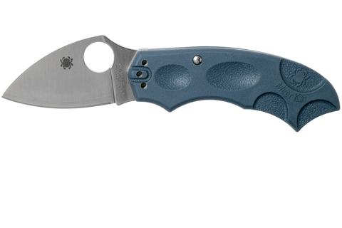 Складной нож Meerkat BLUE Spyderco C64PBLE, сталь V-Toku2 Satin Plain, рукоять термопластик FRN, синий. Вид 7