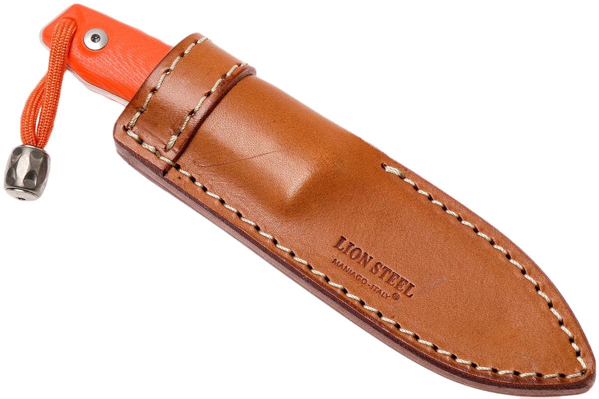 Фото 13 - Нож с фиксированным клинком LionSteel M1 GOR, сталь M390, рукоять G10, оранжевый от Lion Steel