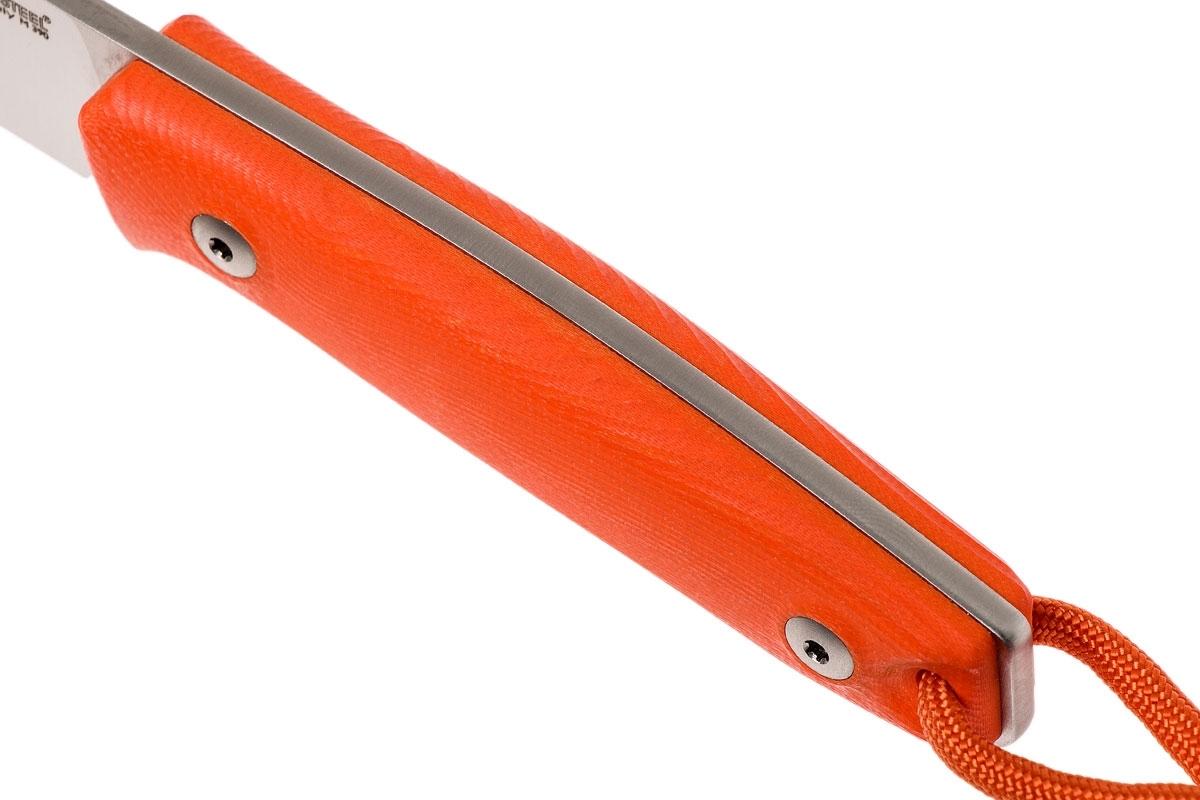 Фото 14 - Нож с фиксированным клинком LionSteel M1 GOR, сталь M390, рукоять G10, оранжевый от Lion Steel