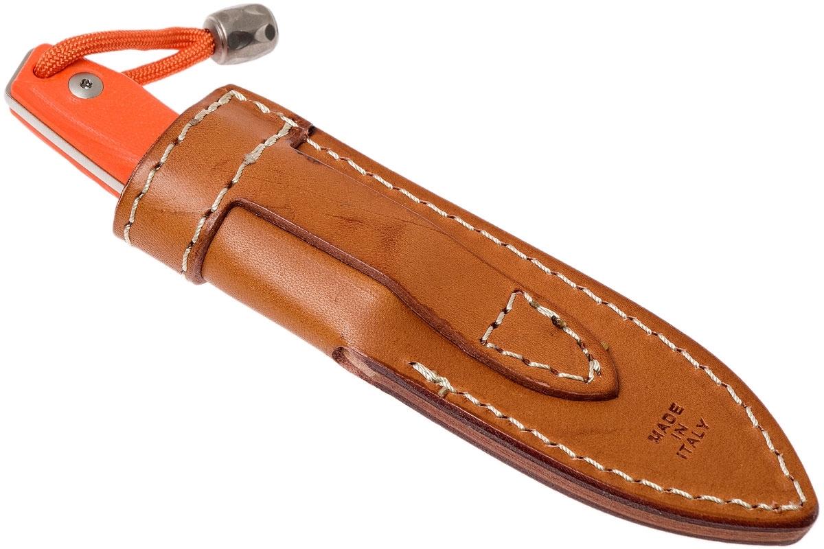 Фото 11 - Нож с фиксированным клинком LionSteel M1 GOR, сталь M390, рукоять G10, оранжевый от Lion Steel