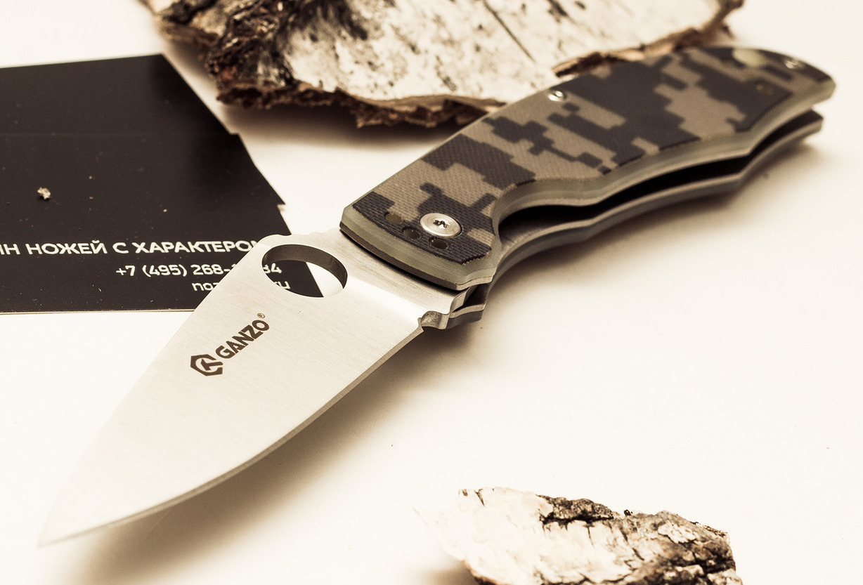 Фото 8 - Нож Ganzo G732 камуфляж