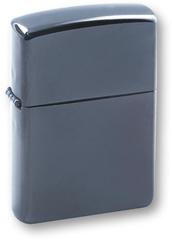 Зажигалка ZIPPO Classic, покрытие Black Ice, латунь/сталь, черная, глянцевая, 36х12х56 мм