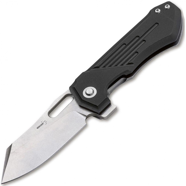 Нож складной Boker Plus Jason B. Stout Design Leviathan, сталь D2 Stonewash Plain, рукоять G10, 01BO751