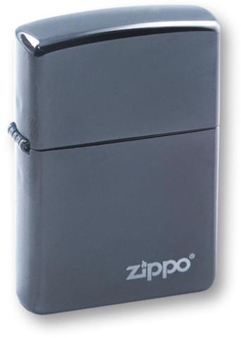 Зажигалка ZIPPO Classic с покрытием Black Ice®, латунь/сталь, чёрная, глянцевая, 36х12х56 мм. Вид 1