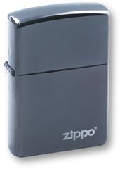 Зажигалка ZIPPO Classic с покрытием Black Ice®, латунь/сталь, чёрная, глянцевая, 36х12х56 мм