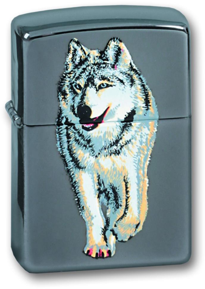 Зажигалка ZIPPO Волк, латунь с покрытием Black Ice ®, чёрная, глянцевая, 36х12x56 мм футболка классическая printio daft punk logo