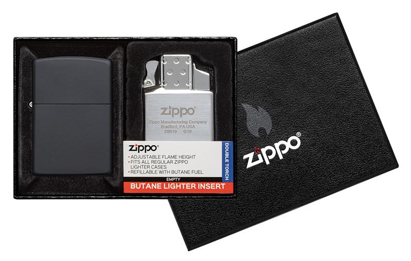 Набор ZIPPO: зажигалка 218 с покрытием Black Matte недорого