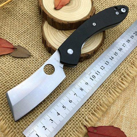 Нож складной Serge Panchenko's Roc Spyderco 177GP, сталь VG-10 Satin Plain, рукоять стеклотекстолит G10, чёрный. Вид 2