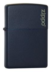 Зажигалка ZIPPO Classic с покрытием Navy Matte, латунь/сталь, синяя, матовая с лого, 36x12x56 мм