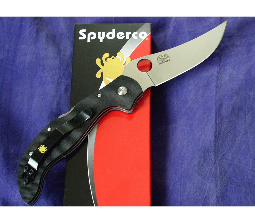 Фото 7 - Нож складной Small Persian 2 Spyderco 105GP2, сталь VG-10 Satin Plain, рукоять G-10, чёрный