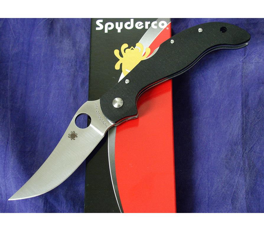 Фото 9 - Нож складной Small Persian 2 Spyderco 105GP2, сталь VG-10 Satin Plain, рукоять G-10, чёрный