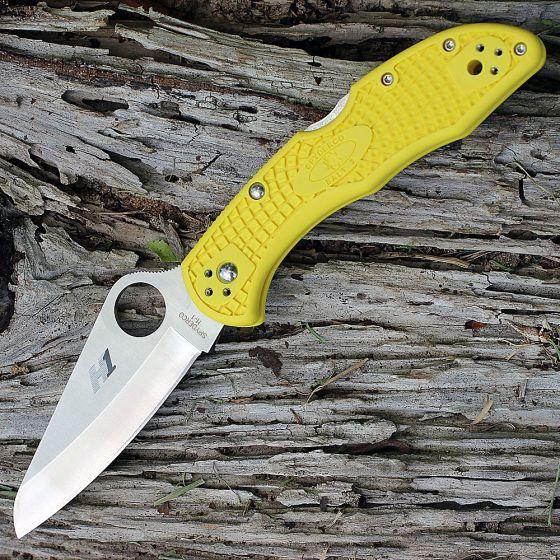 Фото 7 - Складной нож Salt 2 - Spyderco C88PYL2, сталь H1 Satin Plain, рукоять термопластик FRN, жёлтый