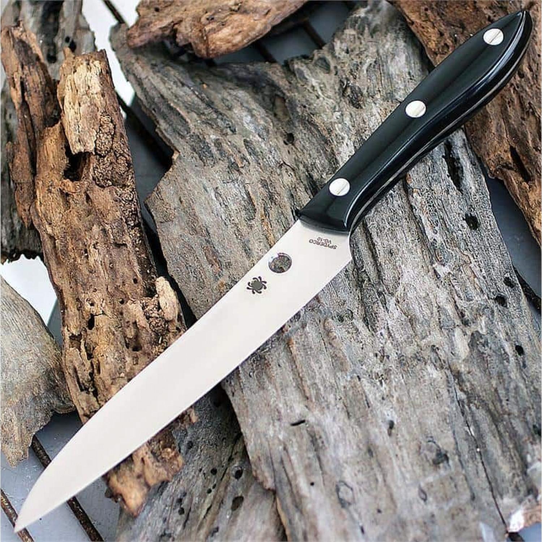 Фото 7 - Нож кухонный Spyderco K11P Cook's Knife, сталь VG-10 Plain, рукоять акриловый камень